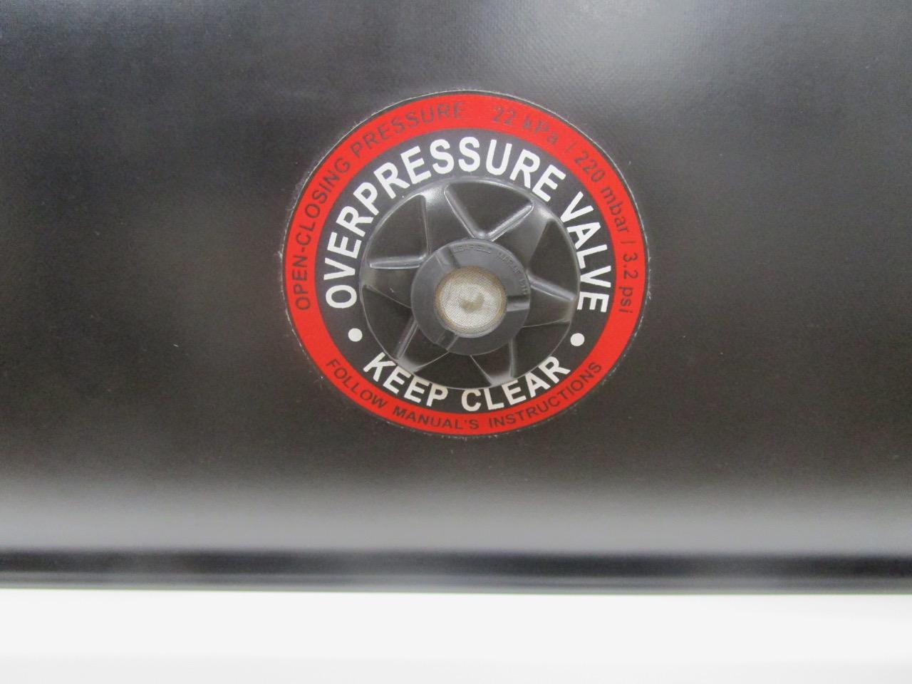 GRAND DRIVE D600 RIB overpressure release valve