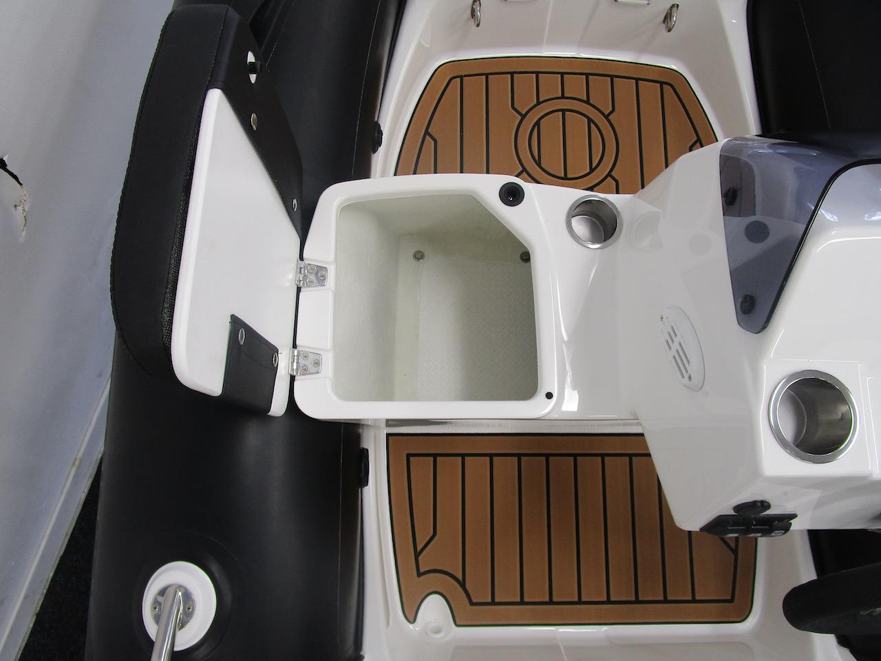 G340N interior floor and side seat storage