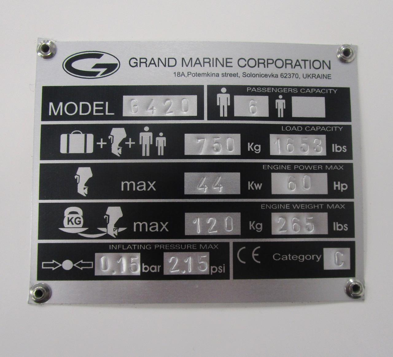 GRAND Golden Line G420 RIB CE plate