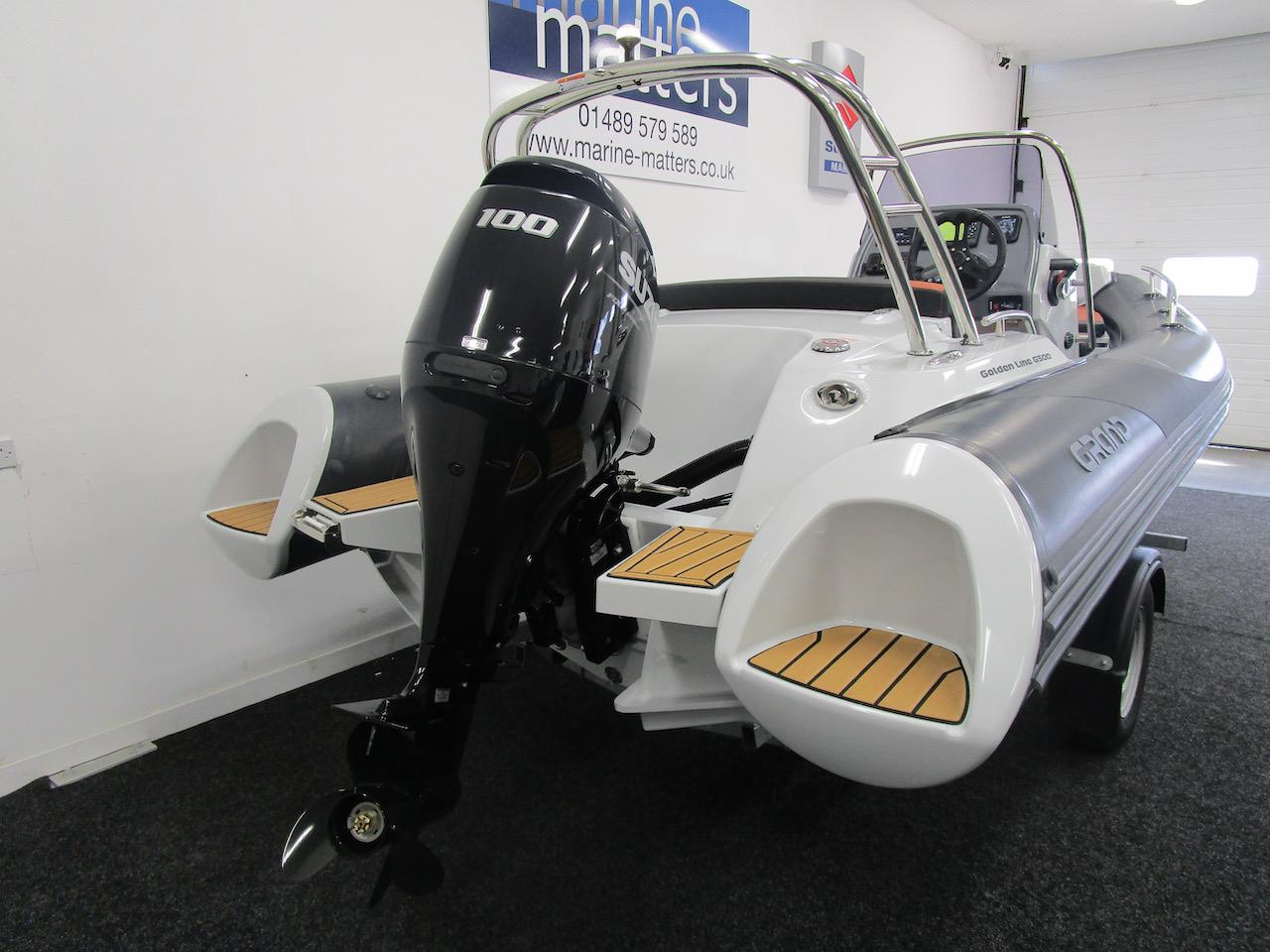 GRAND G500 RIB stern & Suzuki DF100BTL outboard