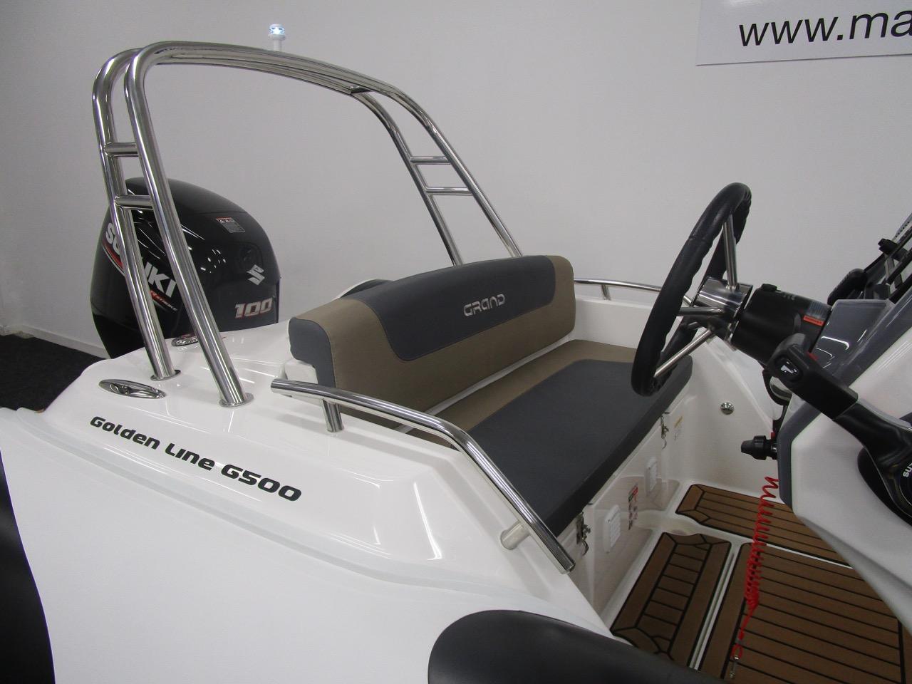 GRAND G500 RIB ski arch and rear seat