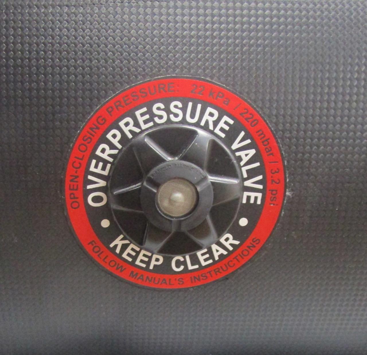 GRAND G750 RIB over pressure release valves