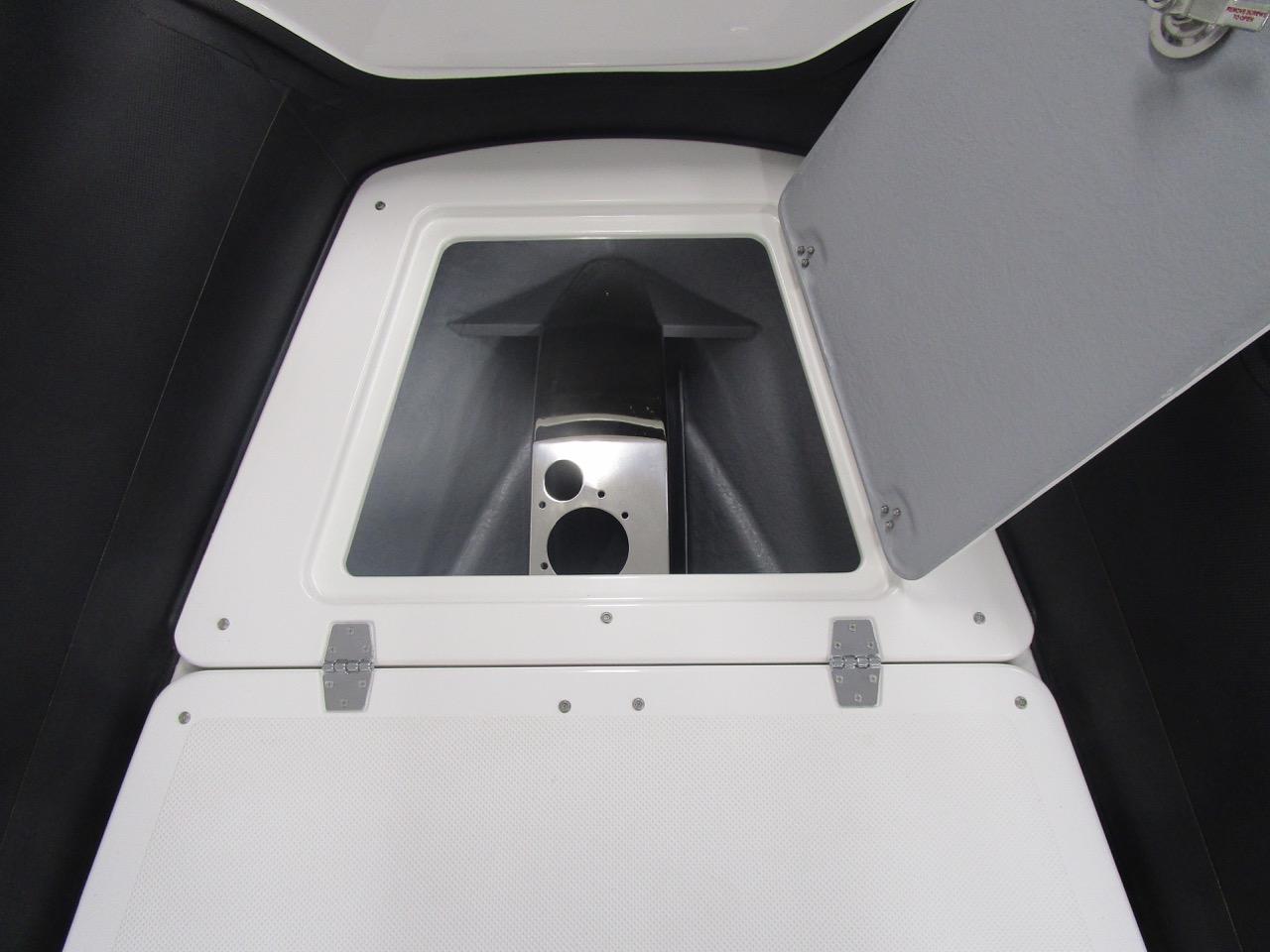 GRAND G850 RIB anchor locker open