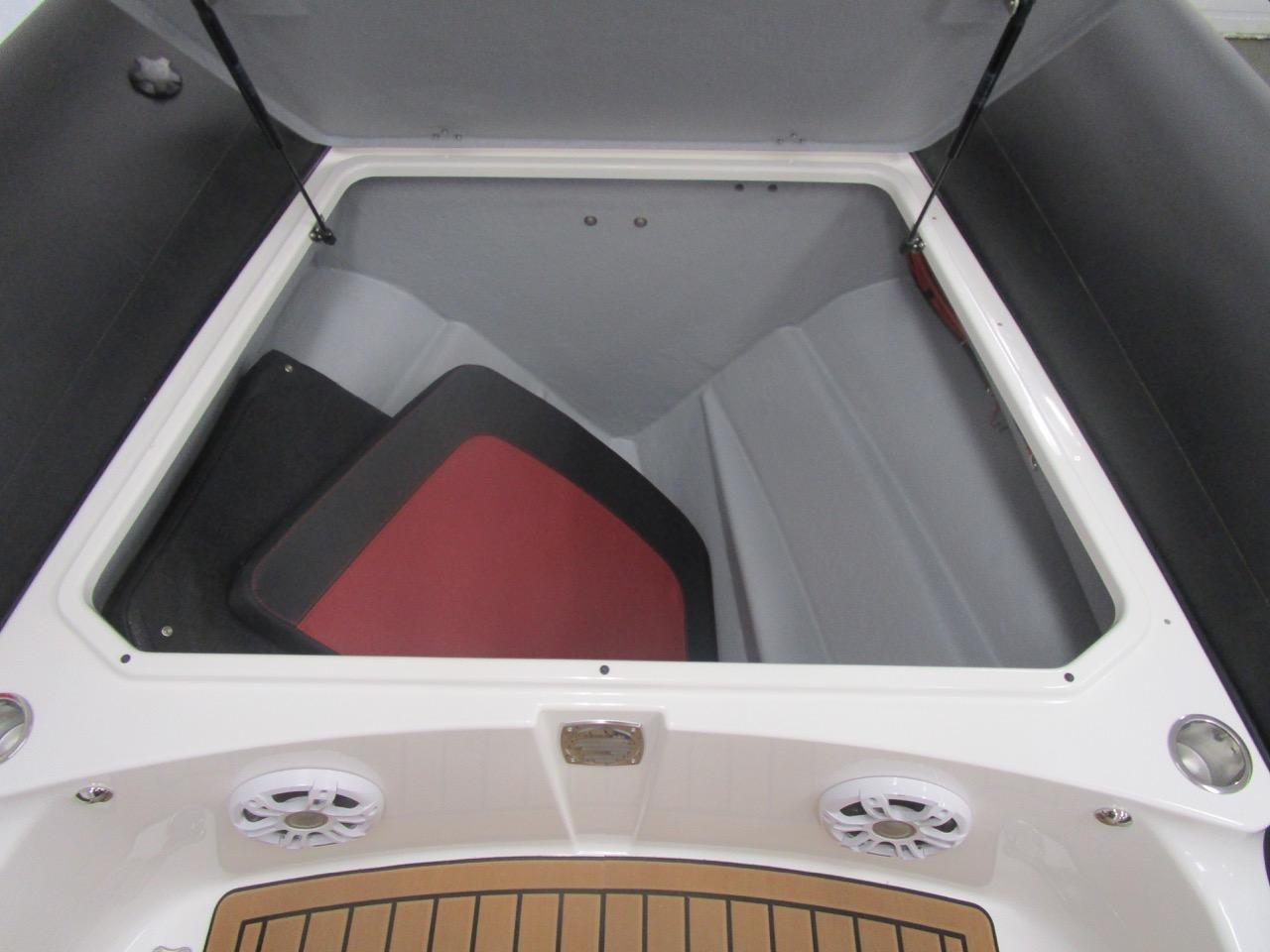 GRAND G850 RIB bow locker with sundeck cushions inside