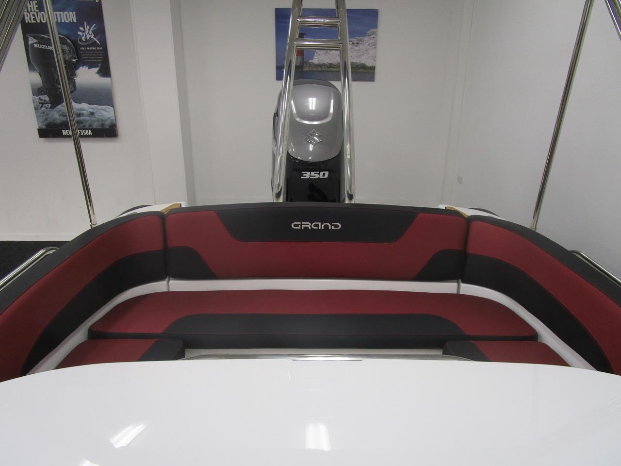GRAND G850 RIB rear seat facing aft