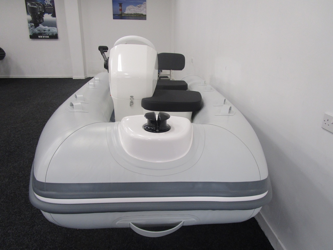 GRAND S330 RIB tender  viewed from the bow