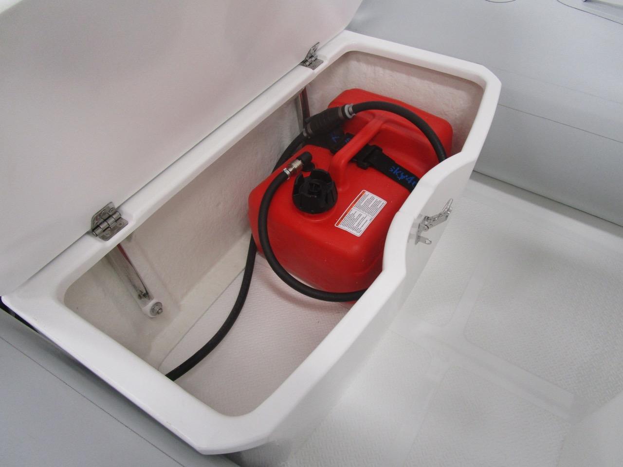 GRAND S300 RIB storage under helm seat