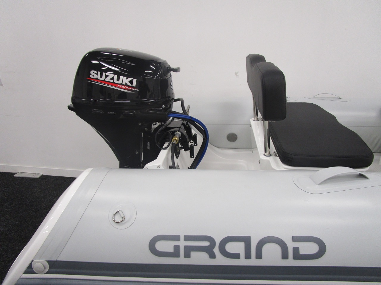 GRAND S330 RIB tender stern and Suzuki DF20ATS outboard