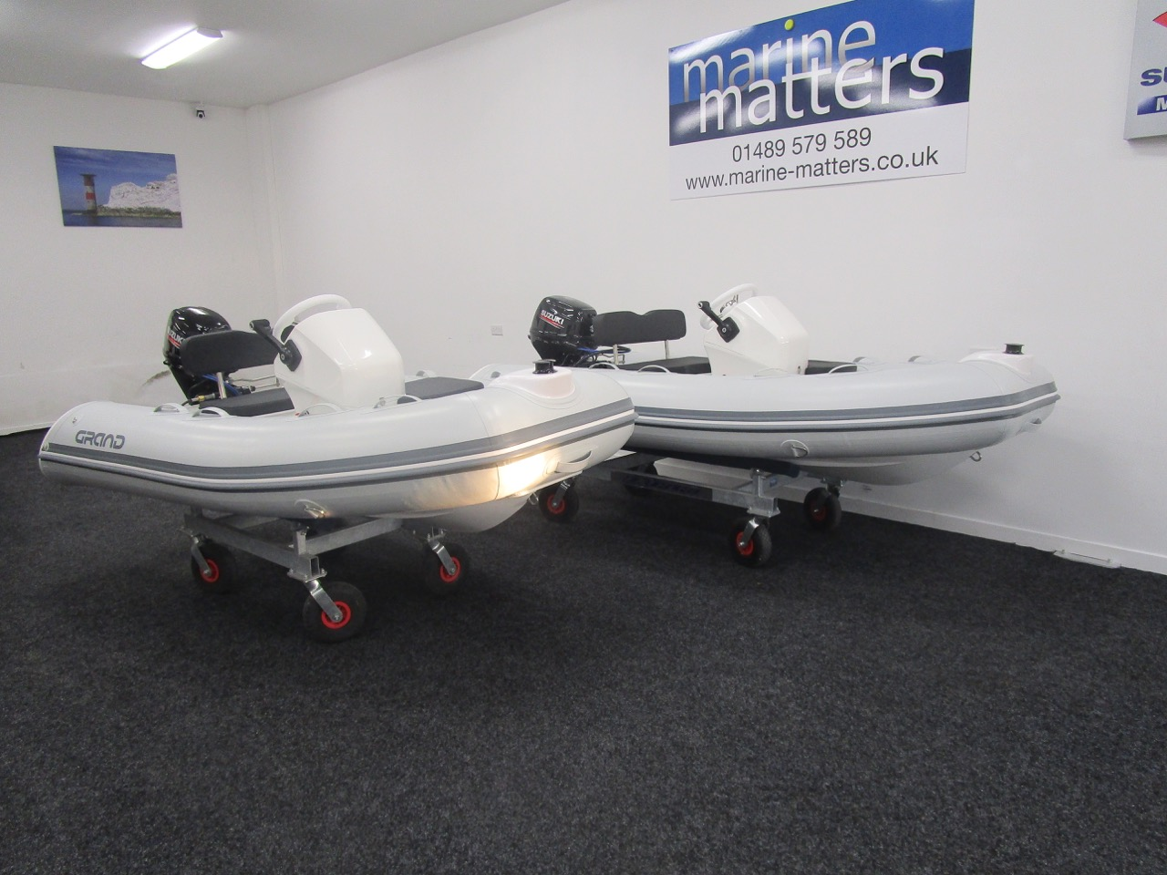 GRAND S330 & S300 RIB tenders together