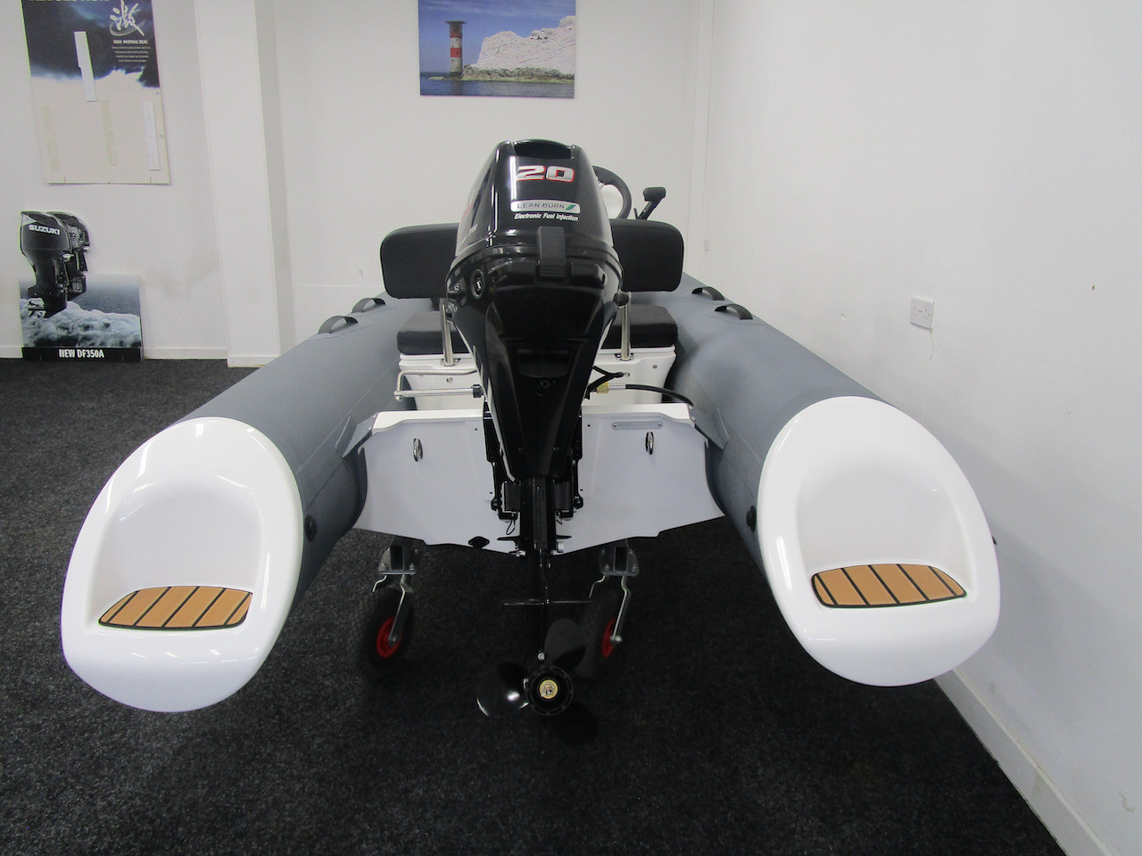 GRAND S330 RIB tender stern view