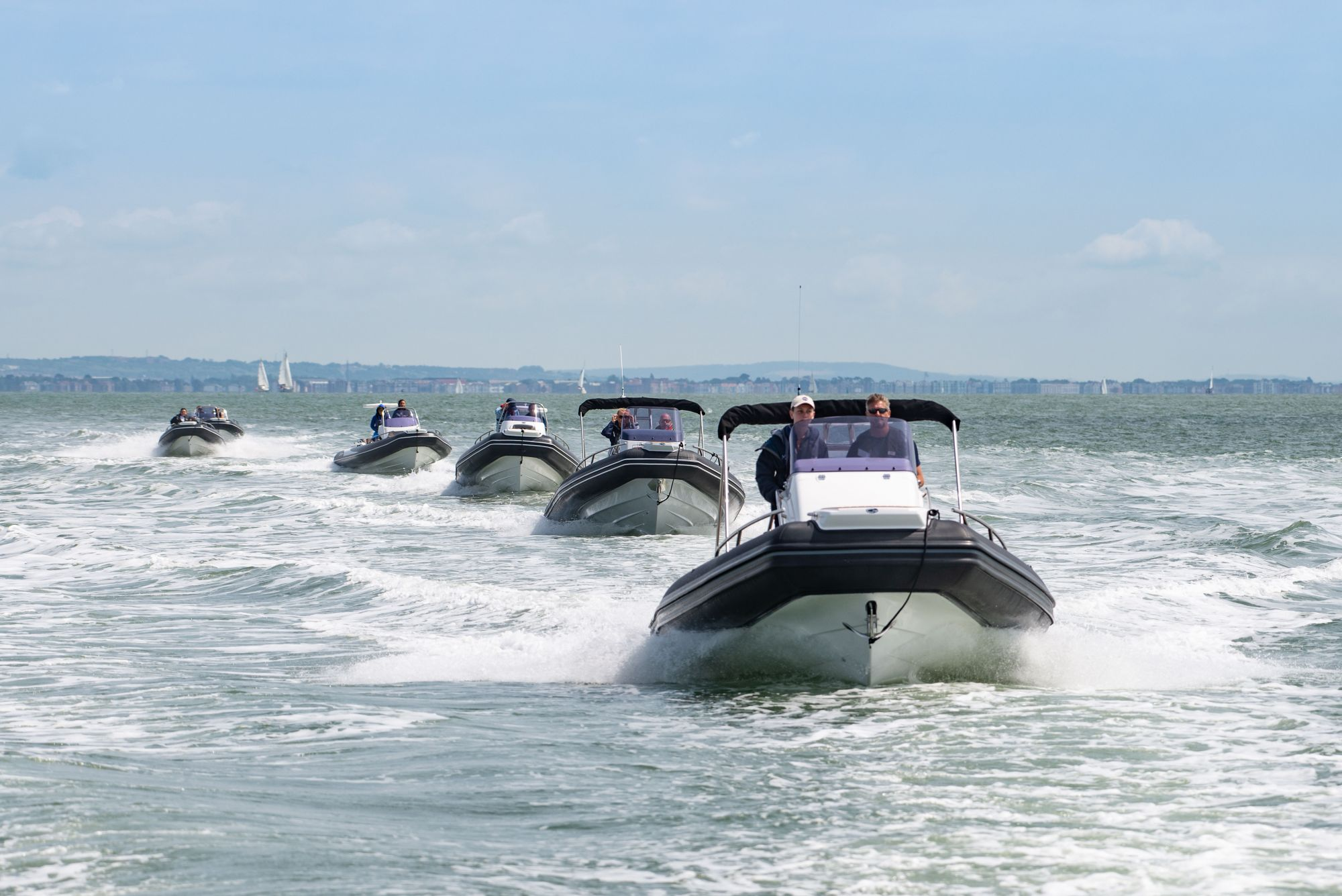 GRAND Golden Line RIBs in The Solent