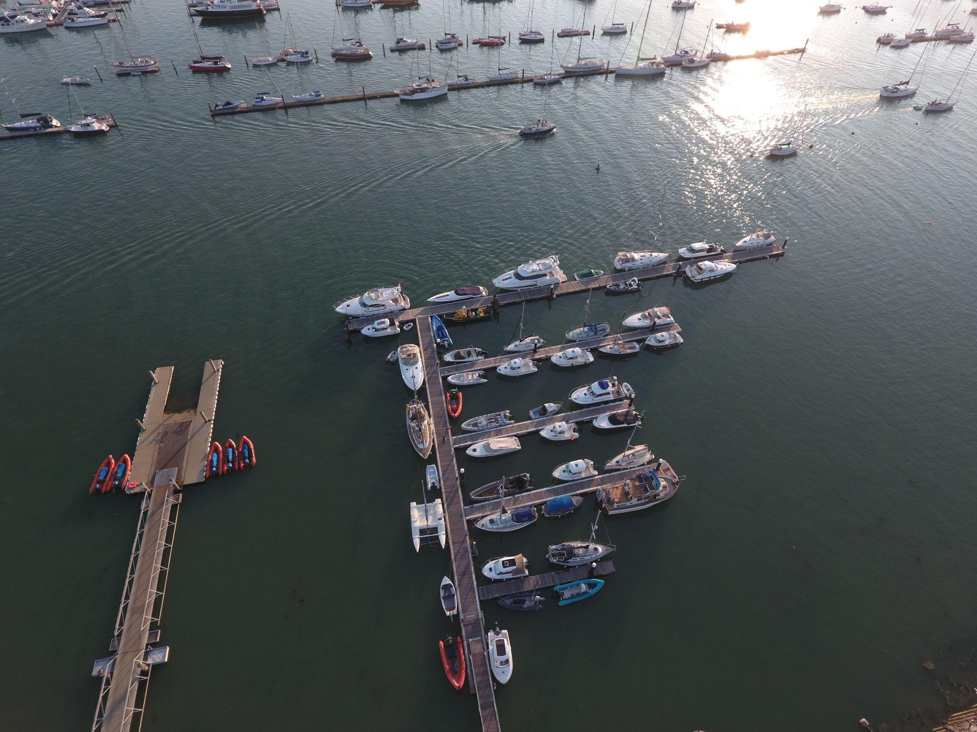 Stone Pier Marina aerial photo