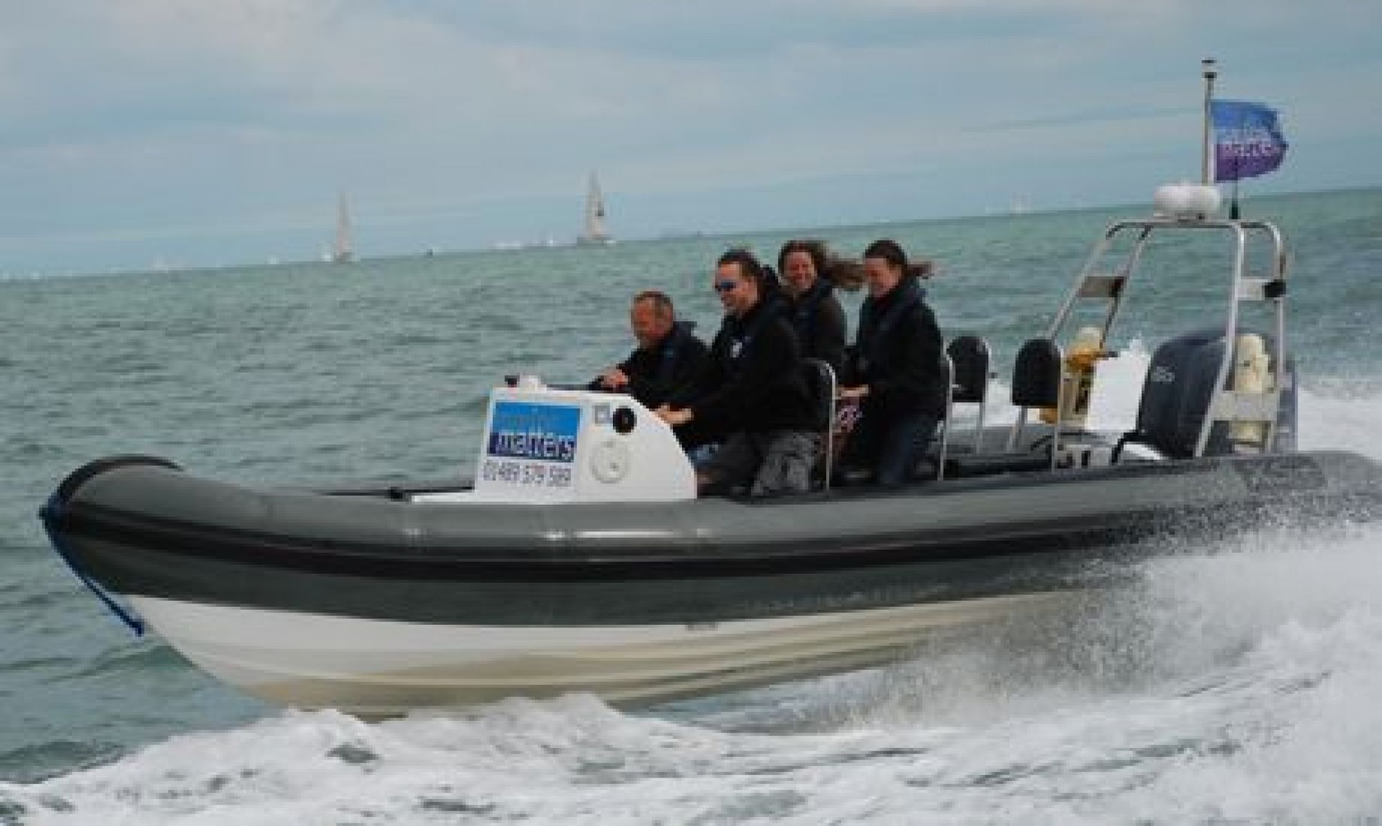 Advanced Powerboat training on our 6.5m RIB