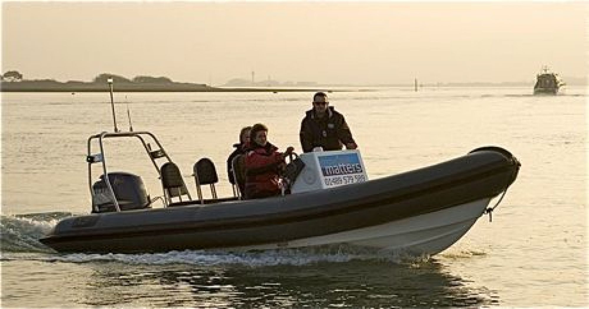RYA Powerboat Instructors course finish the day with boat handling techniques